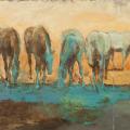 Pferdemalerei Pferde am Wasser