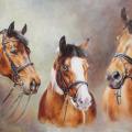 Pferdegemälde 3 Pferde klassisch