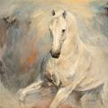 Pferdegemälde Schimmel