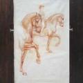 Pferde Zeichnung Dressur Piaffe