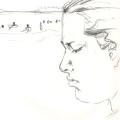 Bleistiftzeichnung Am Strand