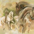 Pferdemalerei Skizze
