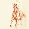 Pferdezeichnung Reiten