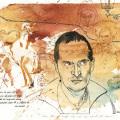 Portraitmalerei editorial illlustration
