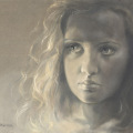 Portrait Öl Auf Leinwand