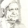 Portrait Zeichnung Helmut Schmidt
