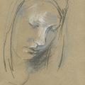 Portrait Skizze Kreide