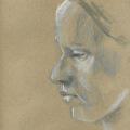Portrait gezeichnet mit Kreide