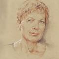 Portrait gezeichnet mit Farbstiften