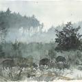 Jagdmalerei Schwarzwild