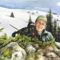Jagdmalerei Aquarell