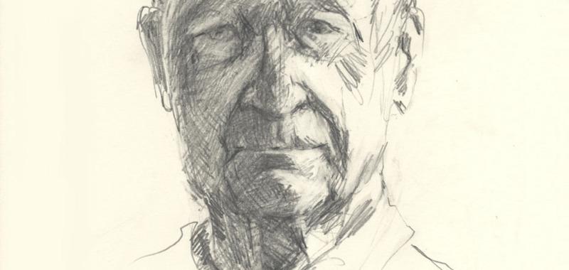 Portraitzeichnung nach dem Modell
